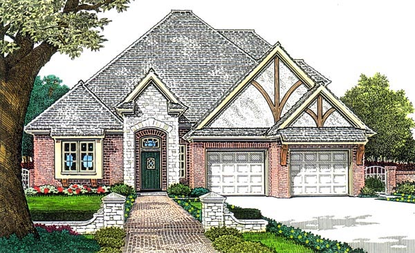 Country European House Plan 66277 Elevation
