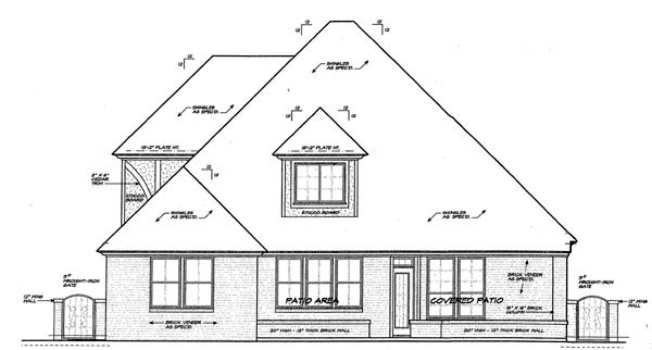 Country European House Plan 66277 Rear Elevation