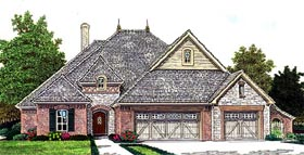 Country European House Plan 66279 Elevation
