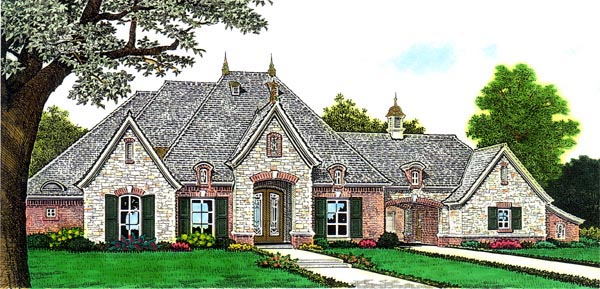 Country European House Plan 66280 Elevation