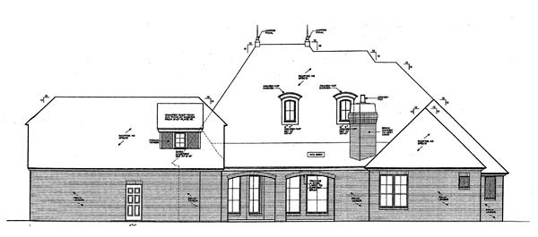 Country European House Plan 66280 Rear Elevation