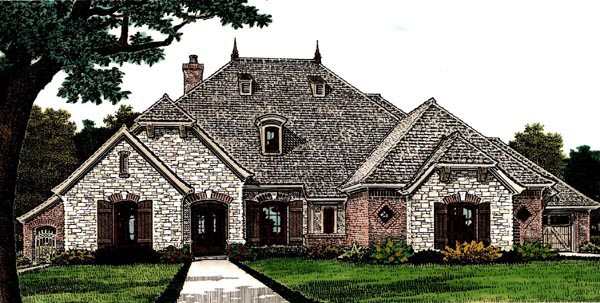Country European House Plan 66281 Elevation