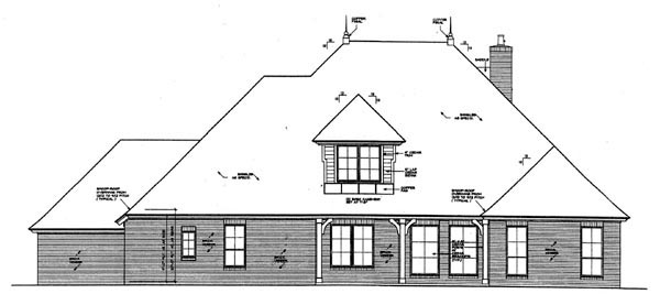 Country European House Plan 66281 Rear Elevation