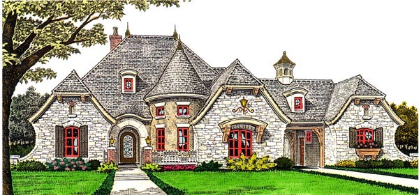 Country European House Plan 66282 Elevation