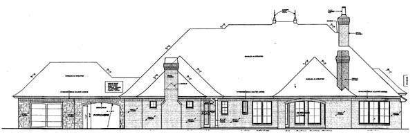 Country European House Plan 66283 Rear Elevation