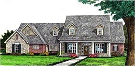 Farmhouse House Plan 66285 with 3 Beds, 4 Baths, 3 Car Garage Elevation