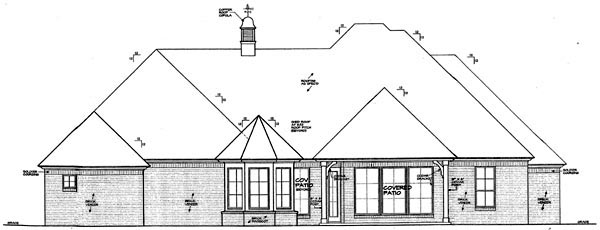 Country European House Plan 66289 Rear Elevation