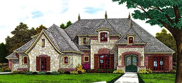 Country European French Country House Plan 66291 Elevation