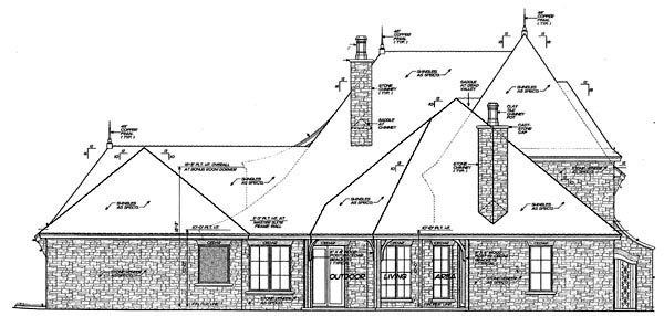 Country European House Plan 66292 Rear Elevation