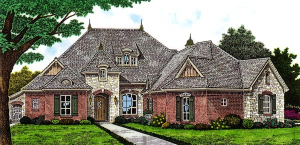 Country European House Plan 66293 Elevation