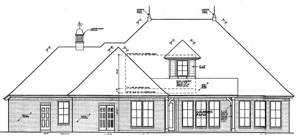 Country European House Plan 66293 Rear Elevation