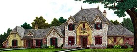 Country , European , French Country House Plan 66294 with 3 Beds, 5 Baths, 3 Car Garage Elevation