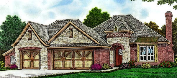 Country European House Plan 66296 Elevation