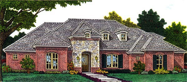 European House Plan 66297 Elevation