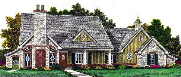 European House Plan 66298 Elevation