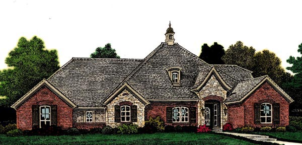 Country European House Plan 66299 Elevation