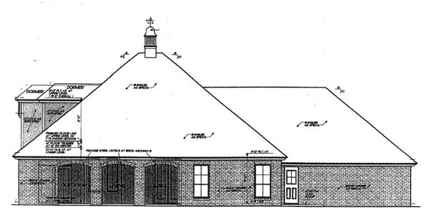 Country European House Plan 66299 Rear Elevation