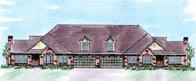 Traditional Multi-Family Plan 66404 with 16 Beds, 12 Baths, 8 Car Garage Elevation