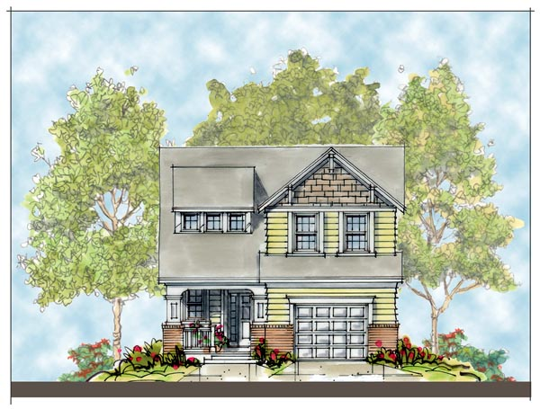 Craftsman House Plan 66410 with 3 Beds, 3 Baths, 1 Car Garage Elevation
