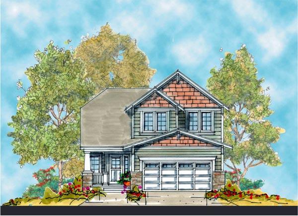 Craftsman House Plan 66413 Elevation