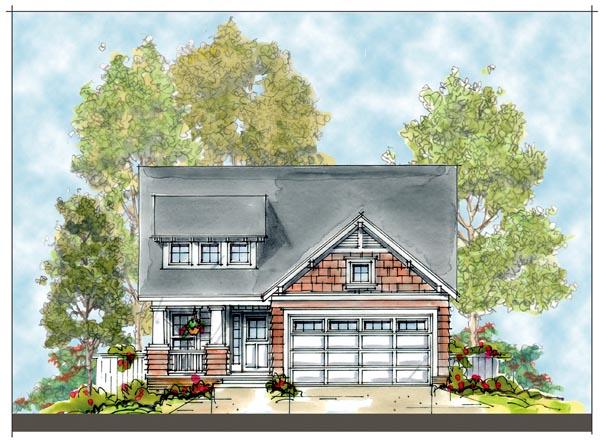 Craftsman House Plan 66414 Elevation