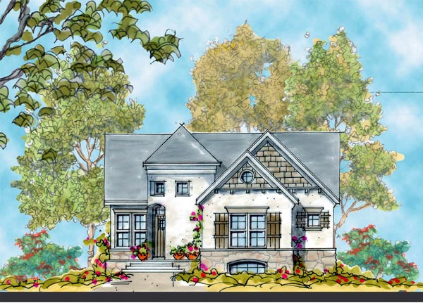 European House Plan 66416 Elevation