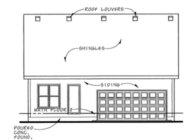 Craftsman House Plan 66420 Rear Elevation