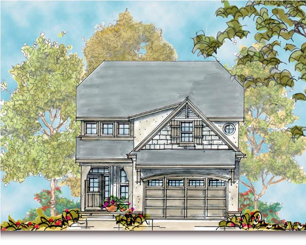 European House Plan 66422 Elevation