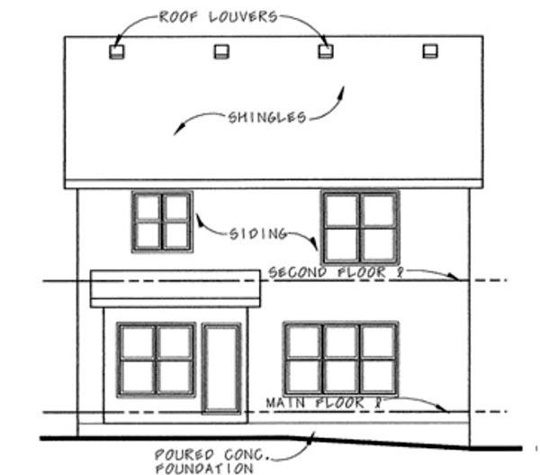 Craftsman House Plan 66423 Rear Elevation