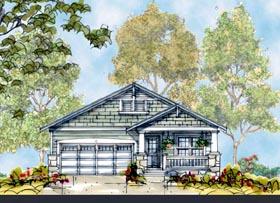 Craftsman House Plan 66424 Elevation
