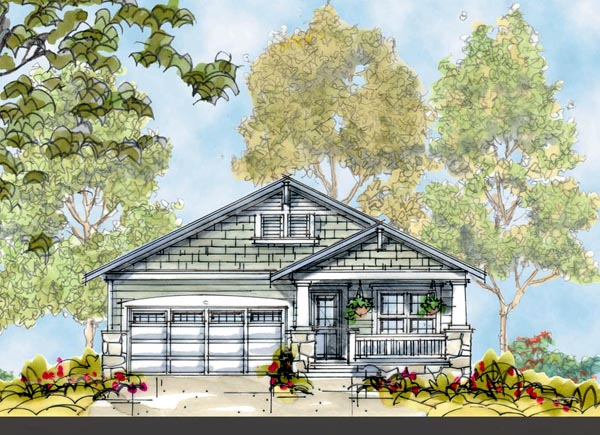 Craftsman House Plan 66424 Elevation