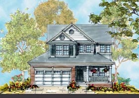 House Plan 66425 | Country Style Plan with 2473 Sq Ft, 4 Bedrooms, 3 Bathrooms, 2 Car Garage Elevation