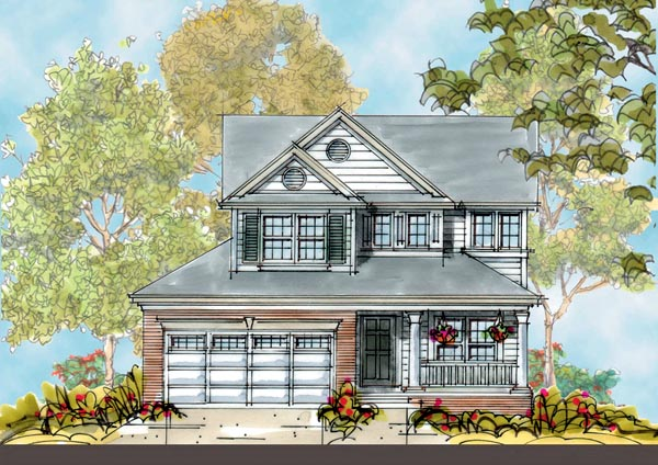 Country House Plan 66425 with 4 Beds, 3 Baths, 2 Car Garage Elevation