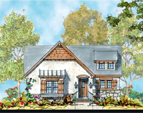 European House Plan 66426 Elevation