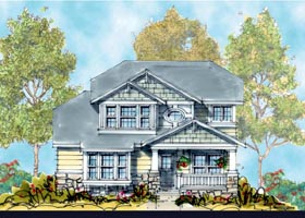 House Plan 66427 | Craftsman Style Plan with 2484 Sq Ft, 4 Bedrooms, 3 Bathrooms, 2 Car Garage Elevation