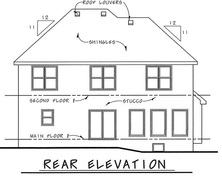 Craftsman House Plan 66429 Rear Elevation