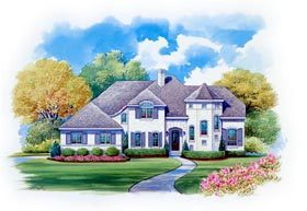 European House Plan 66433 Elevation