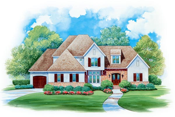 European House Plan 66434 Elevation