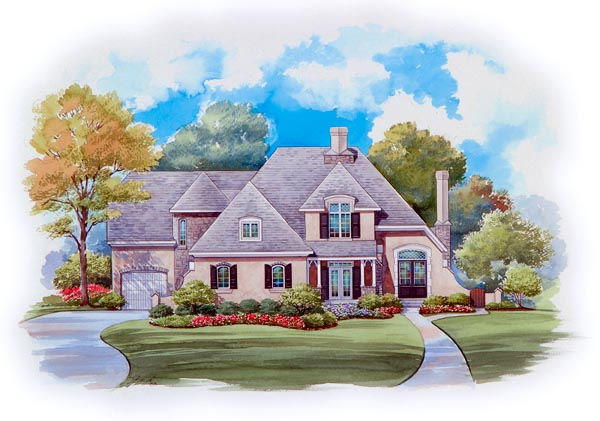 European House Plan 66436 Elevation