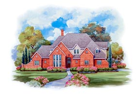 House Plan 66437 | European Style Plan with 3067 Sq Ft, 4 Bedrooms, 4 Bathrooms, 3 Car Garage Elevation