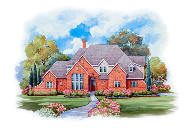 European House Plan 66437 Elevation