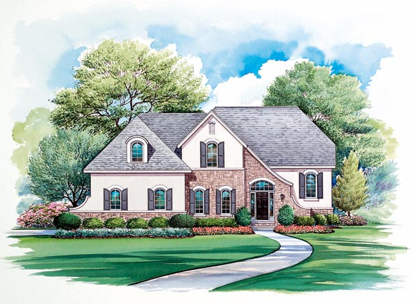 European House Plan 66442 Elevation
