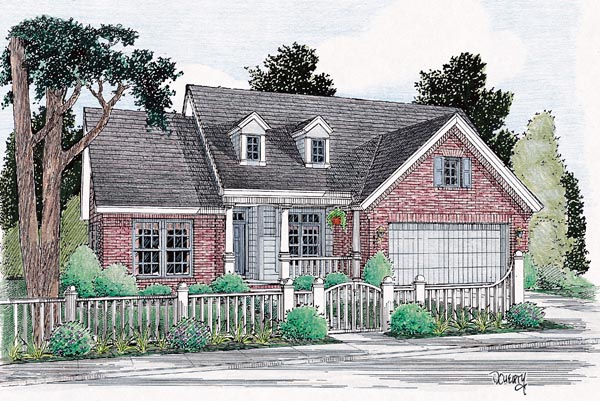 Traditional House Plan 66448 Elevation