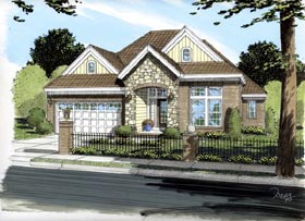 Traditional House Plan 66449 Elevation
