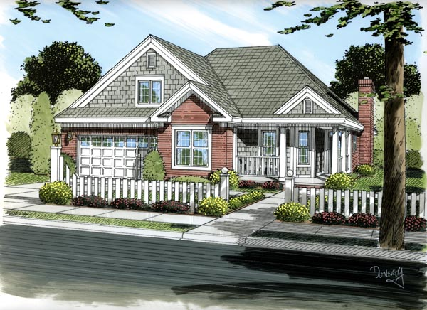 Traditional House Plan 66450 Elevation