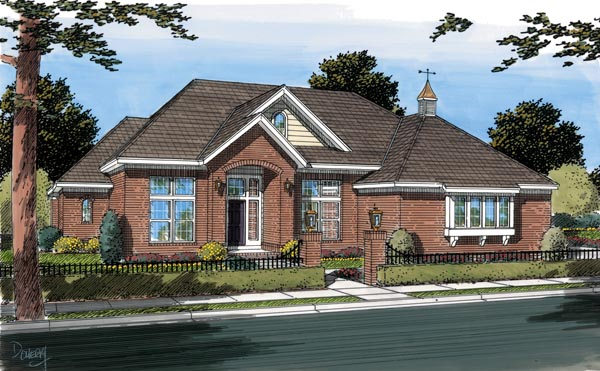 Traditional House Plan 66454 Elevation