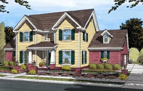 House Plan 66456 | Traditional Style Plan with 2334 Sq Ft, 3 Bedrooms, 3 Bathrooms, 3 Car Garage Elevation