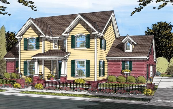Traditional House Plan 66456 with 3 Beds, 3 Baths, 3 Car Garage Elevation