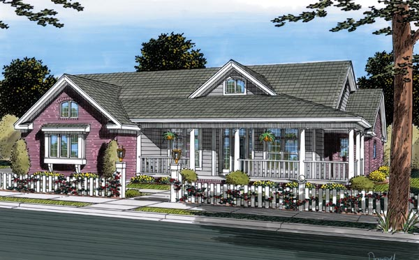 Country , Traditional House Plan 66459 with 3 Beds, 2 Baths, 3 Car Garage Elevation