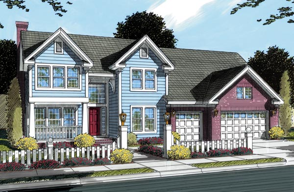 Traditional House Plan 66461 Elevation